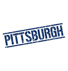 Pittsburgh blue square stamp vector