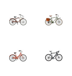 Realistic cyclocross drive journey bike retro vector