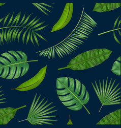 realistic detailed green leaves of plants vector image