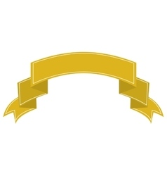 ribbon banner yellow design icon vector image