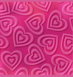 seamless background valentine hearts vector image
