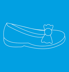 Shoe icon outline style vector