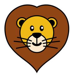 simple cartoon of a cute lion vector image