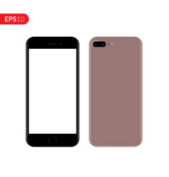 Smartphone mobile phone pink color mockup vector