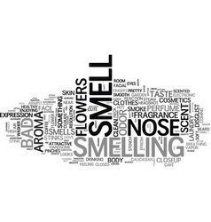 Smell word cloud concept vector