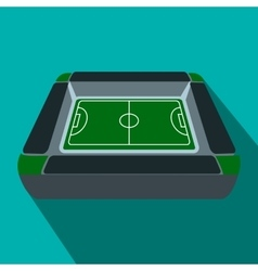 Square soccer field flat icon vector