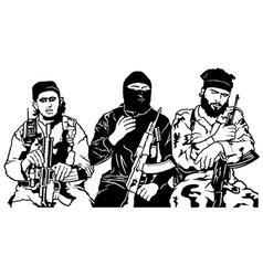 Terrorists vector