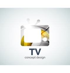 Tv logo template vector