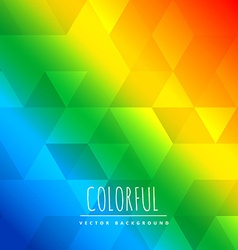 Abstract coilorful background with triangle vector