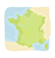 Territory of France icon in cartoon style isolated vector image