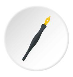 Fountain pen icon circle vector
