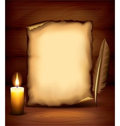Candle paper dark background vector