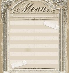 Vintage graphic page for restaurant menu vector