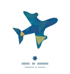 Abstract fabric triangles airplane silhouette vector