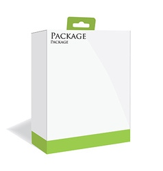 Green software package vector image