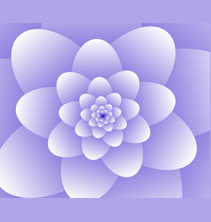 3d abstract purple floral spiral background vector image vector image