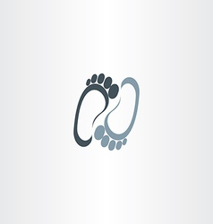 Human foot logotype icon vector