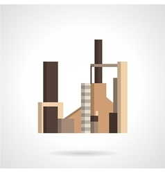 Radio engineering plant flat icon vector