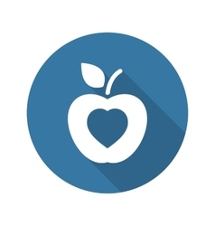 Healthy eating icon flat design vector