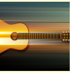 Abstract background with acoustic guitar vector