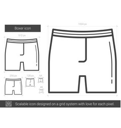 boxer line icon vector image