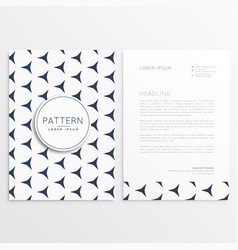 Business flyer with pattern shape vector