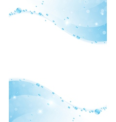 Clear water frame vector image