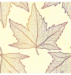 Colored art autumn maple leaves seamless pattern vector