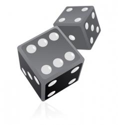 dice illustration vector image