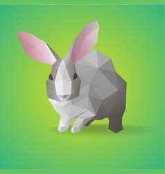 geometric polygonal farm animal concept vector image