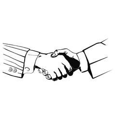 handshake2 vector image