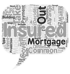 Insurance an overview text background wordcloud vector