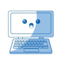 Kawaii laptop computer device technology wireless vector