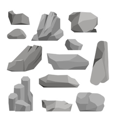 Rocks and stones vector