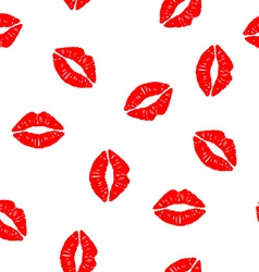 seamless background with kisses vector image