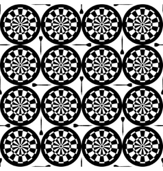 Seamless dartboard pattern vector