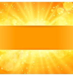 shiny sun with place for text vector image