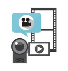 Social media marketing line icons vector