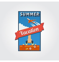 Summer vacation banner 01 vector image vector image