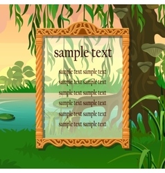 Vintage antique frame on a natural background vector image vector image
