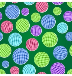 Seamless pattern set with striped balls vector