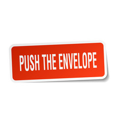 Push the envelope square sticker on white vector
