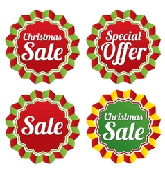 Christmas sale special offer labels set vector image