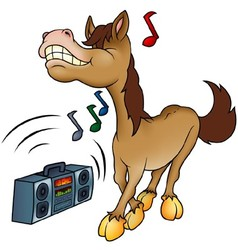 Horse and music vector