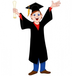 graduated boy vector image