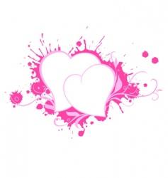 hearts pair vector image