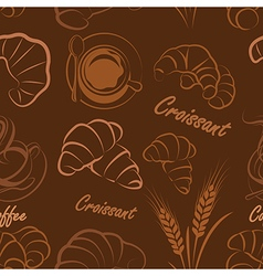 Croissant seamless vector