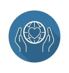 Global health assistance icon flat design vector