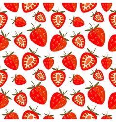 Seamless pattern bright background with strawberry vector