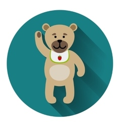 Teddy bear icon with shadow vector